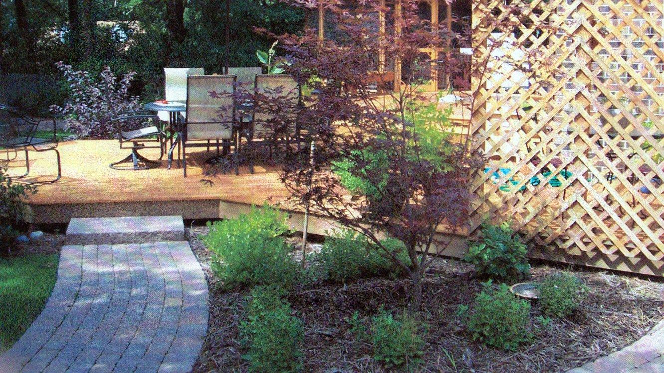 Paver Brick Sidewalk Rockford IL Backyard Image