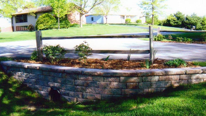 Culvert Driveway Paver Brick Retaining Walls Rockford IL