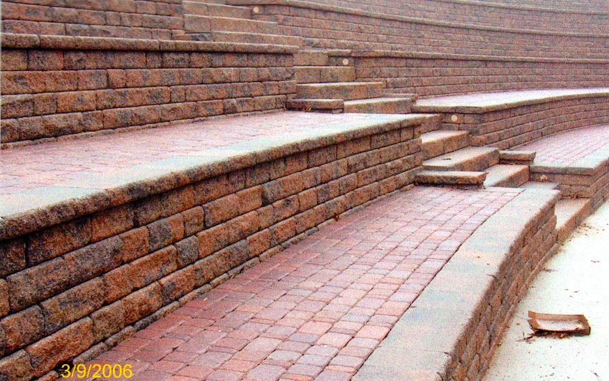 Paver Patio Amphitheater Instillation in Rockford IL Image