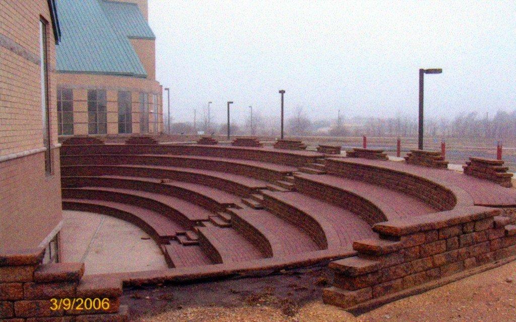 Paver Brick Installation Amphitheater Rockford IL Image