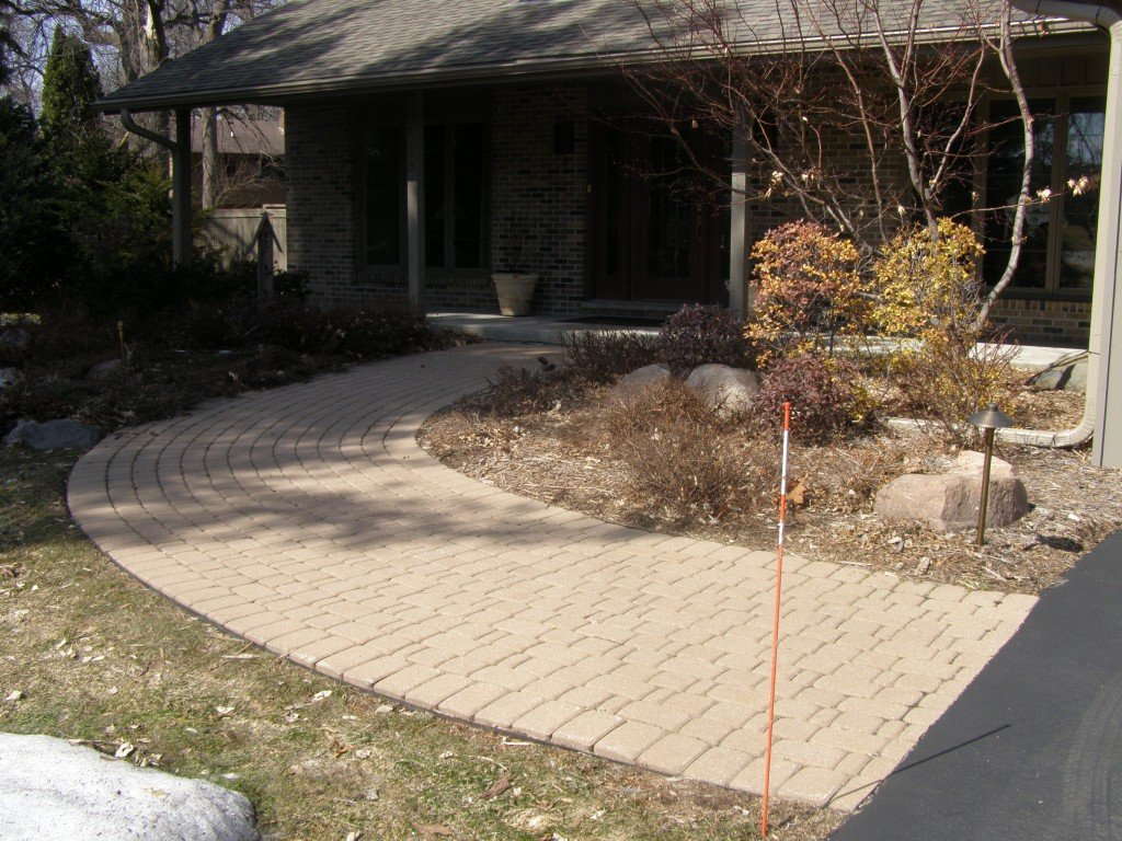 Front Entryway Paver Sidewalk Image