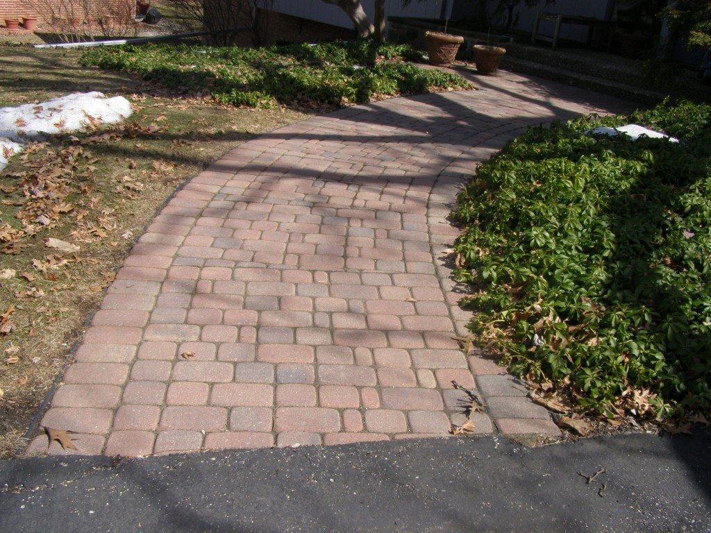 Front Paver Brick Sidewalk 4 Image