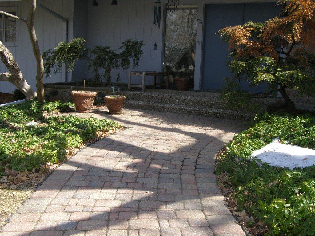Front Paver Brick Sidewalk 5 Image