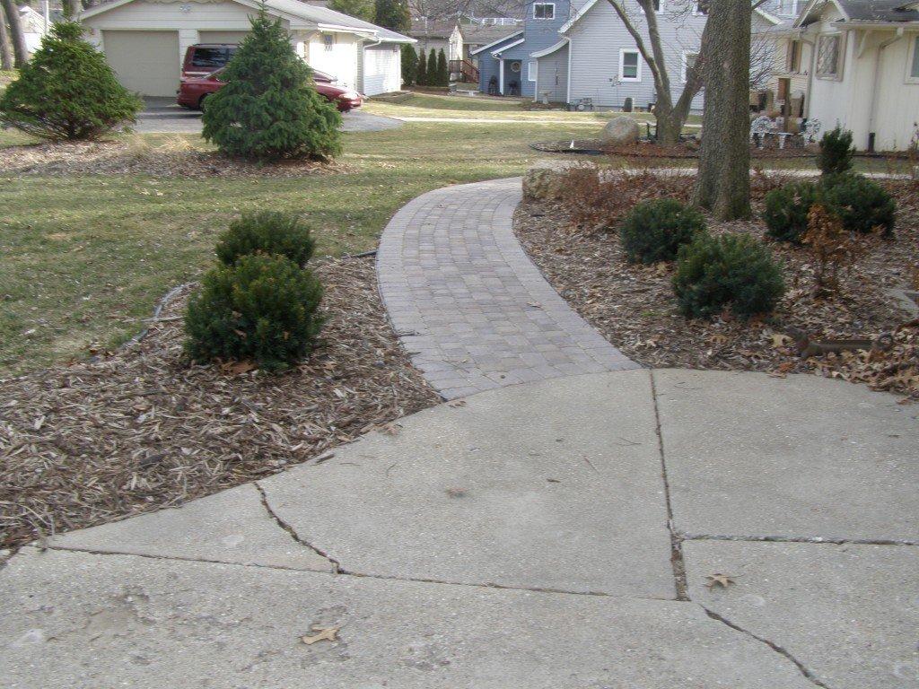 Landscape Renovation Paver Sidewalk 63 Image