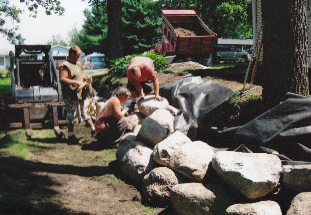 Boulder Retaining Walls, Rockford IL 5 Image