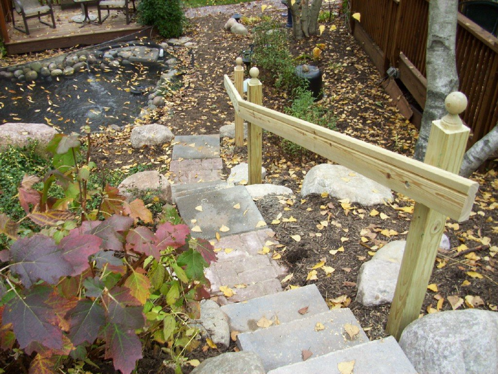 pond stairs r e marshall nursery