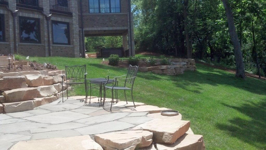 Riverfront backyard landscapes | RE Marshall | Rockford IL