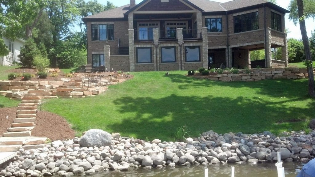 Full picture of backyard project | RE Marshall | Rockford IL