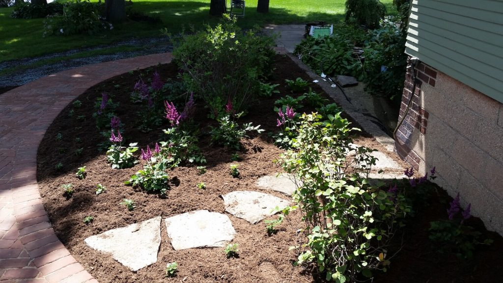 natural stone steppers landscape | RE Marshall | Rockford IL