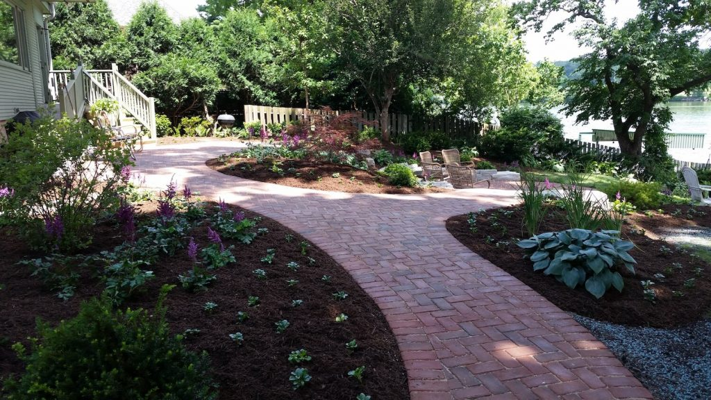 Landscape Paver walkway | RE Marshall | Rockford IL