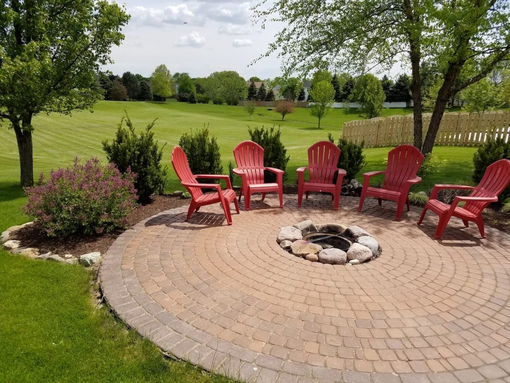 paver patio and landscaping design and installation | RE Marshall | Rockford IL