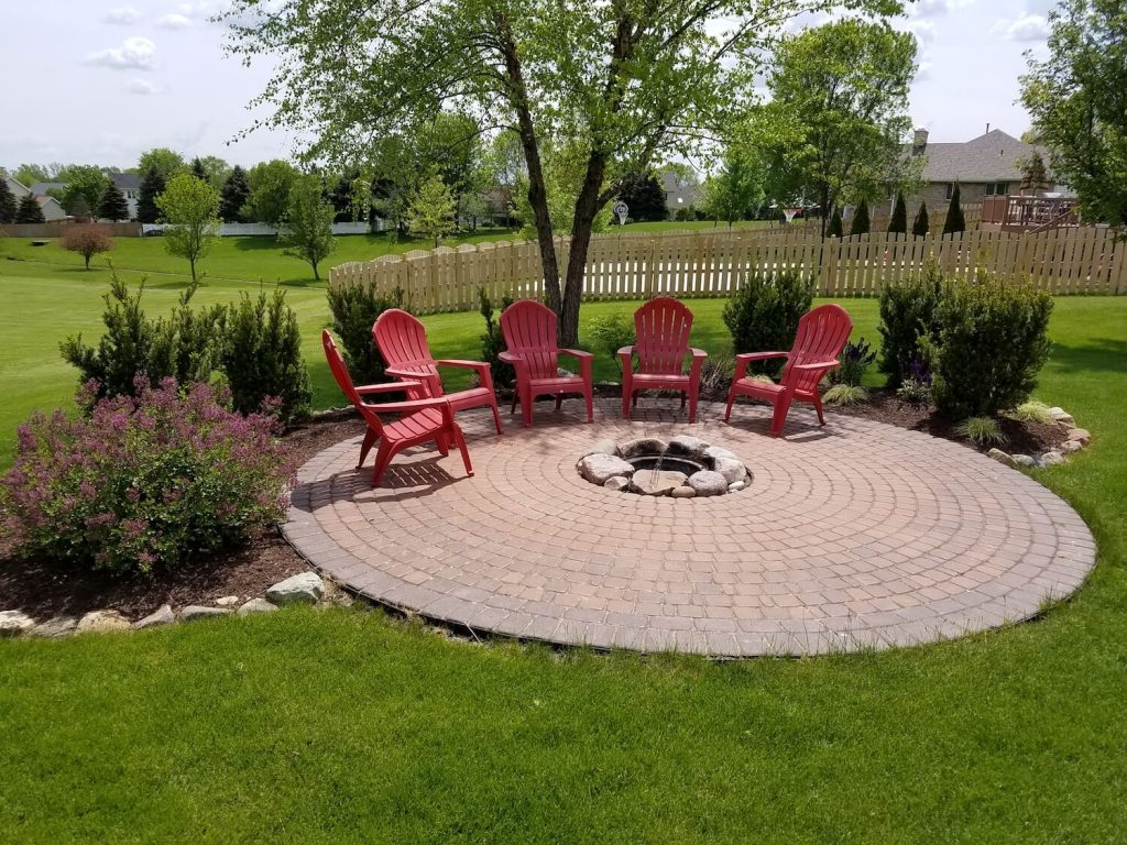 Landscape Residential Fire pit | RE Marshall | Rockford IL