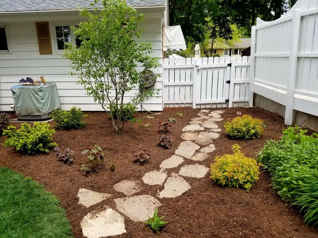 Stone pathway and landscaping | RE Marshall | Rockford IL