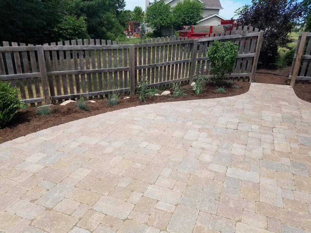 grasses and shrubs around patio | RE Marshall | Rockford iL