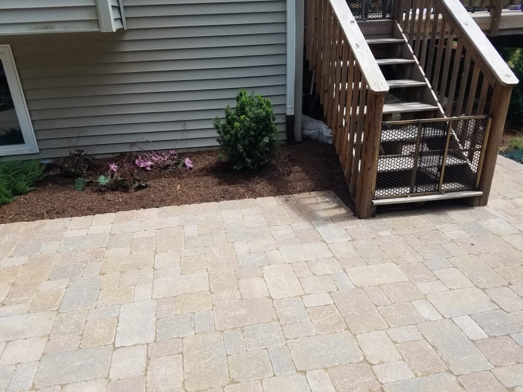 Paver brick patio | RE Marshall | Rockford IL