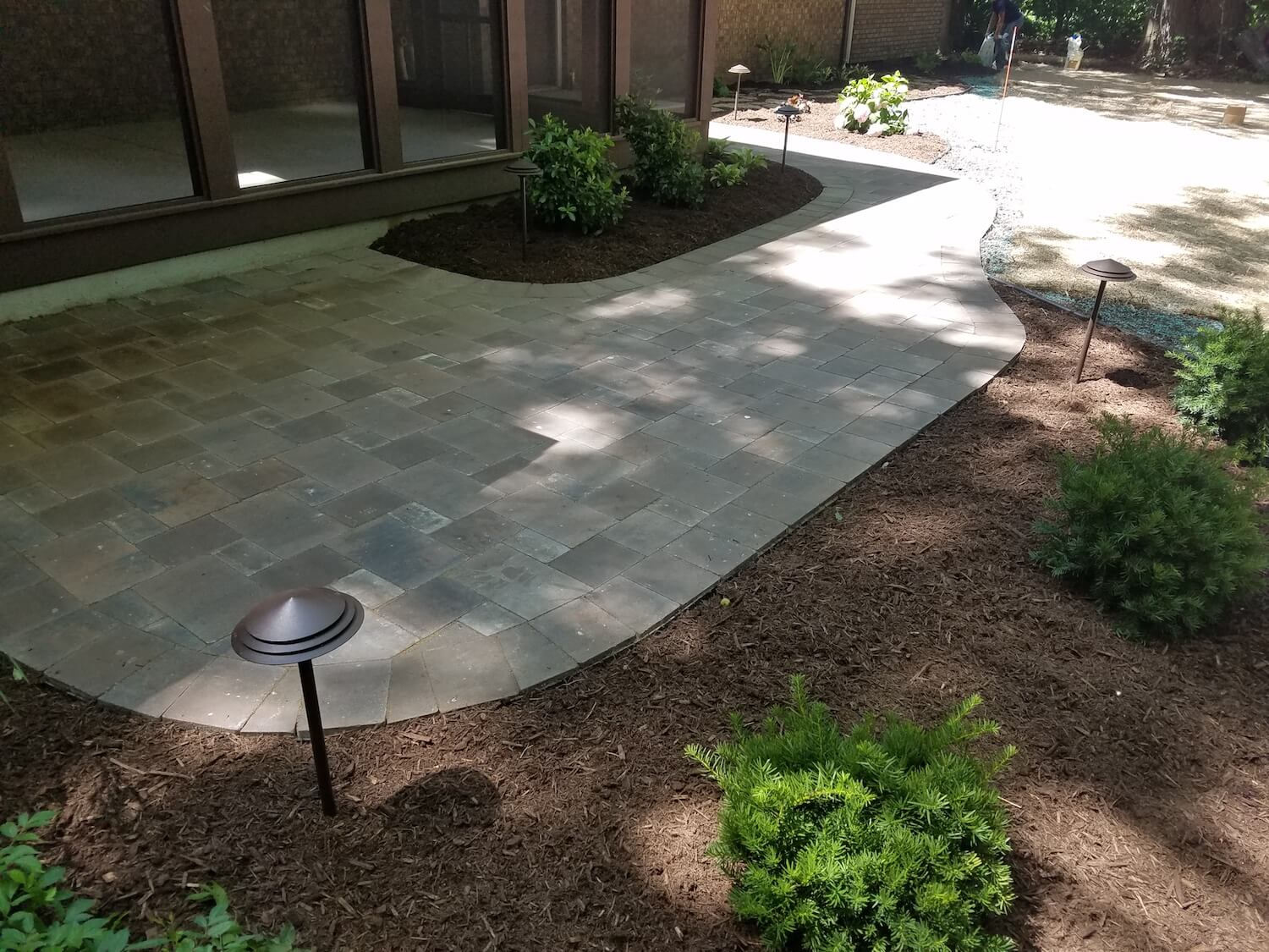 paver patio and landscaping | RE Marshall | Rockford IL