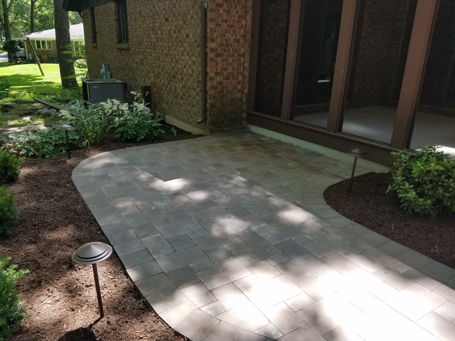 Patio area with lighting | RE Marshall | Rockford IL